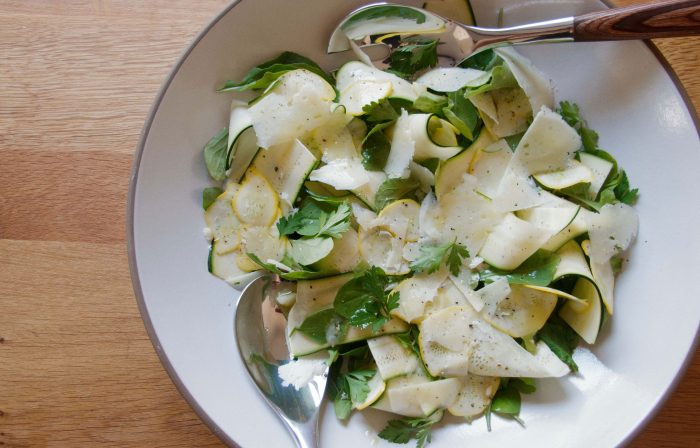 Summer Squash with Pecorino and Lemon Vinaigrette Recipe