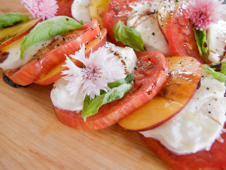 Heirloom Tomato, Nectarine, and Mozzarella Salad Recipe