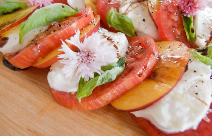 Heirloom Tomato, Nectarine, and Mozzarella Salad Recipe