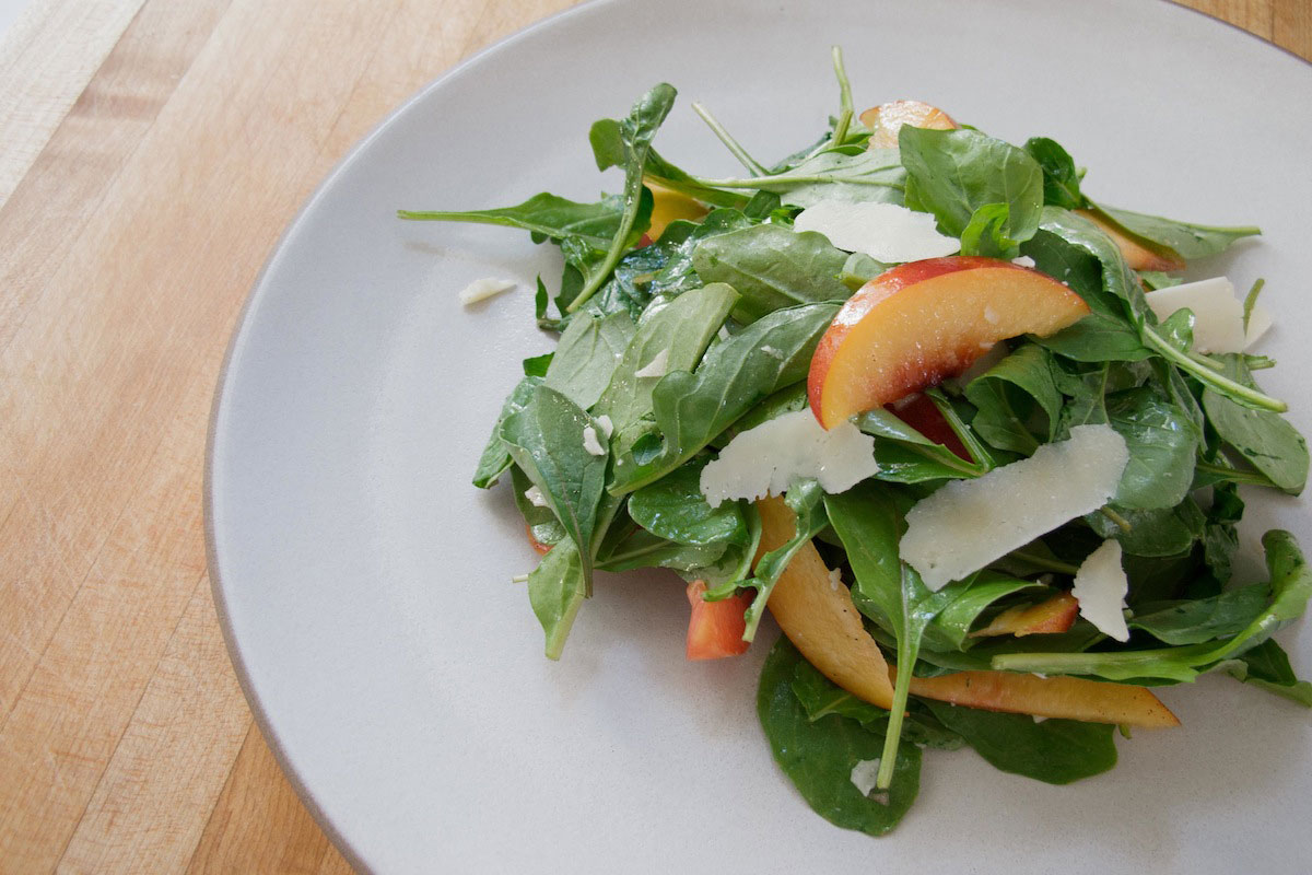 Stone Fruit Salad with Baby Arugula & Pecorino Romano Recipe