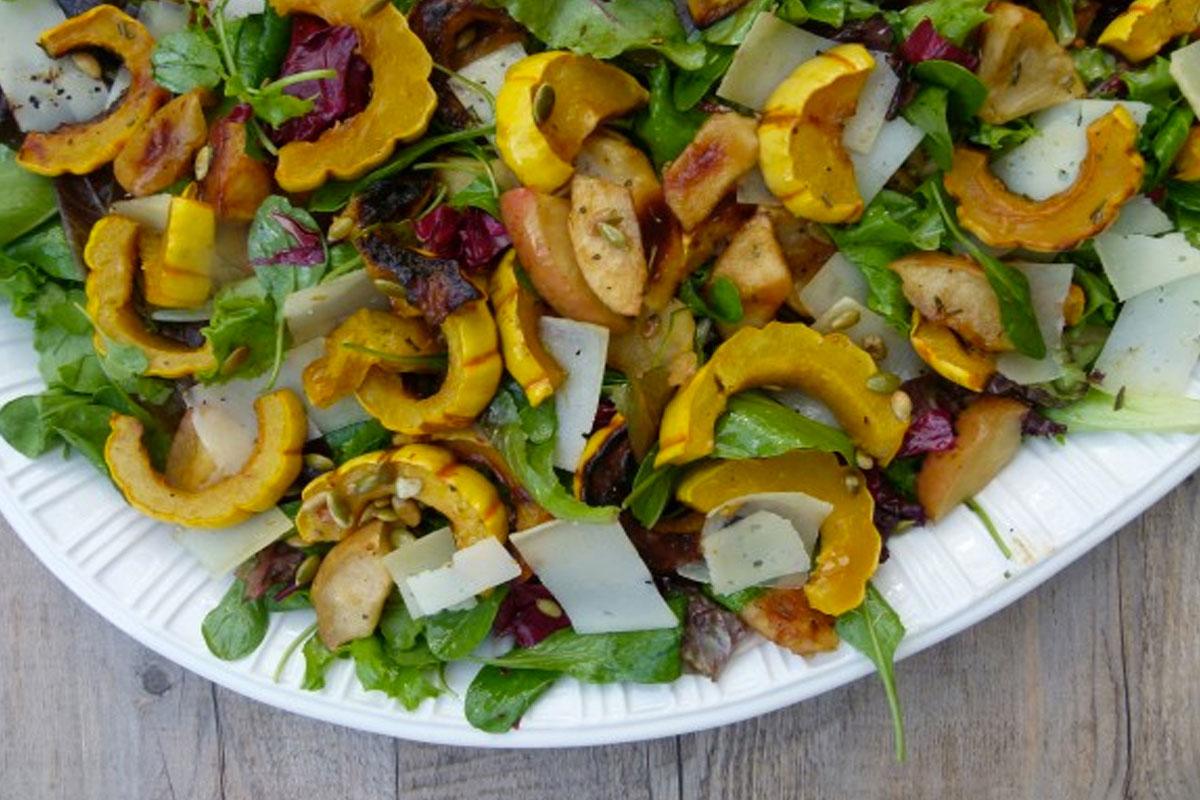 Roasted Delicata Squash and Apple Salad Recipe