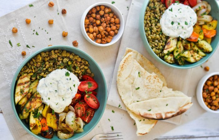 Middle Eastern Grilled Vegetable & Lentil Bowl Recipe