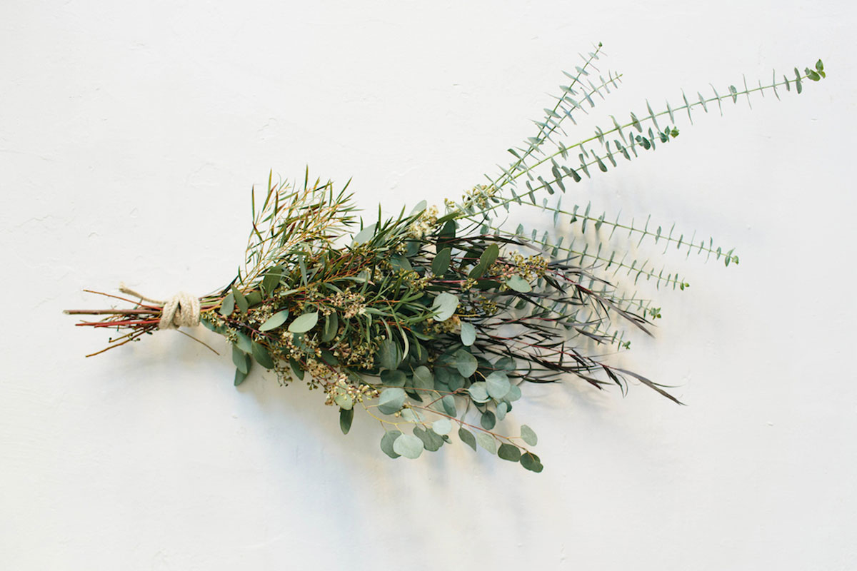 Using Willow Eucalyptus Seeded Silver Dollar Blooming Gunnii And Baby Blue He Created Four Gorgeous Displays