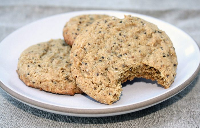 Almond Butter & Chia Seed Cookies Recipe