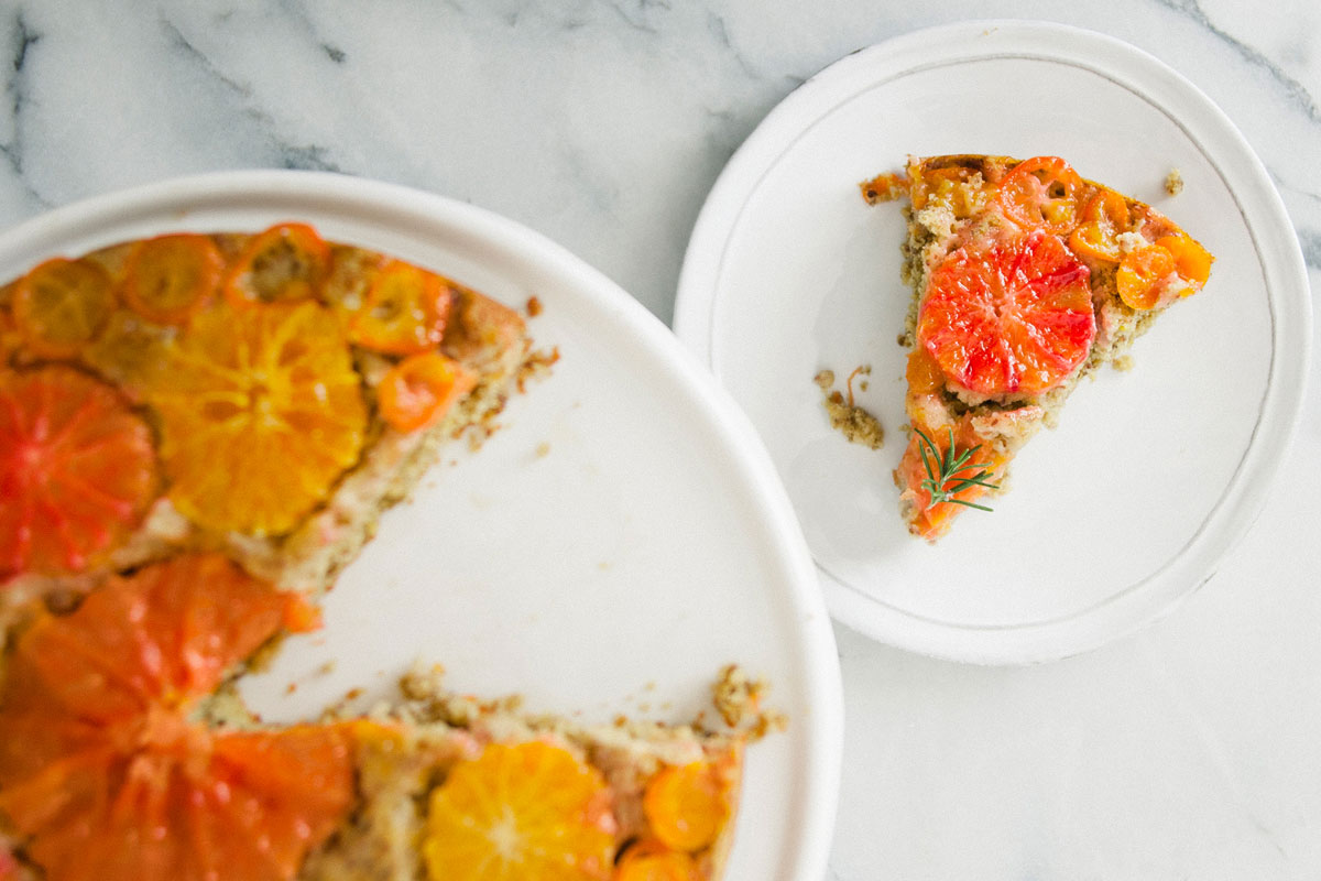 Citrus Almond Olive Oil Upside Down Cake Recipe 1