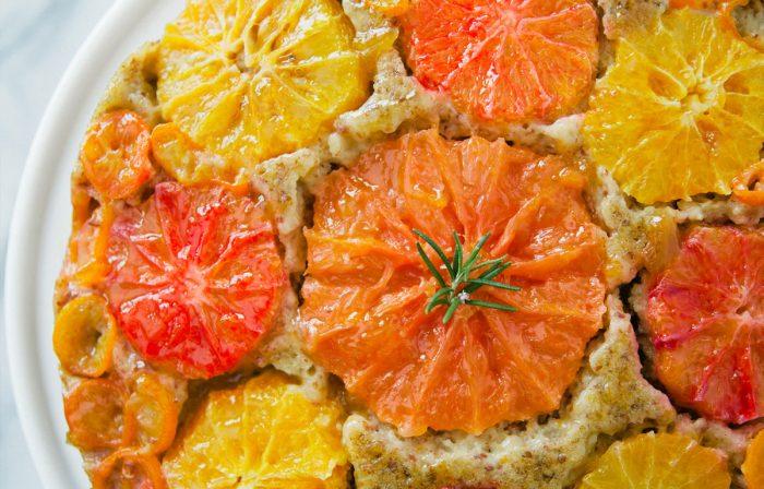 Citrus Almond Olive Oil Upside Down Cake Recipe