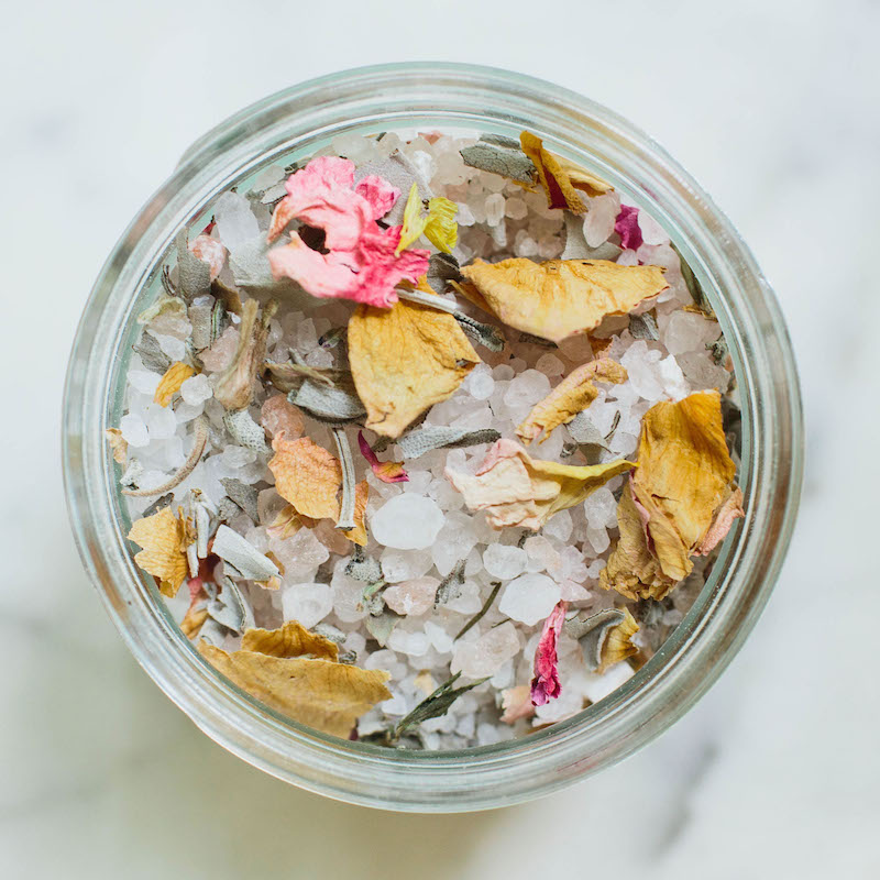 DIY: Floral Bath Salts