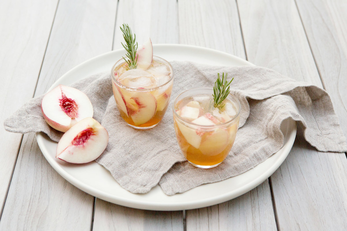 Rosemary Peach Maple Leaf Cocktail Recipe