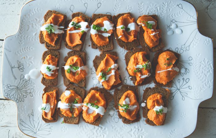Coconut Curry Yam Crostini Recipe