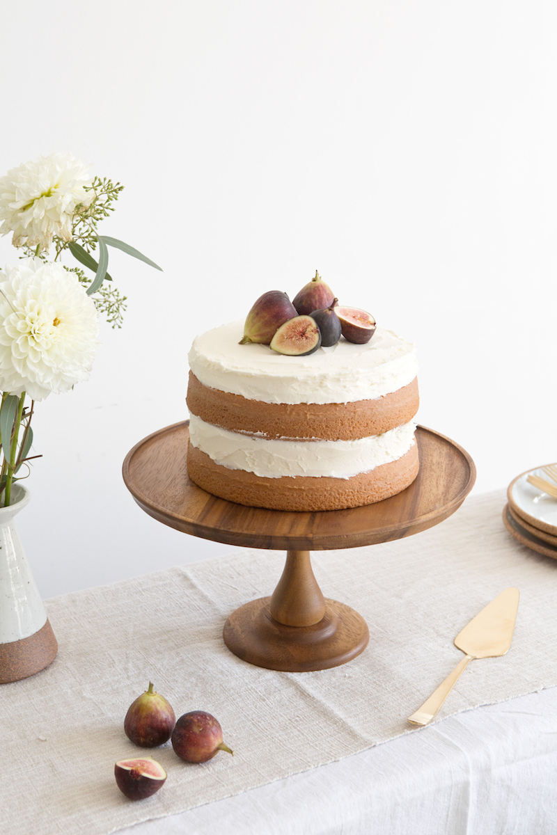 Almond Cake with Fig Compote Recipe