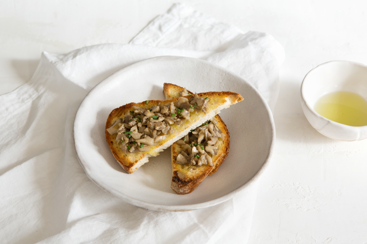 Hen of the Woods Mushroom Toast by Pamela Salzman