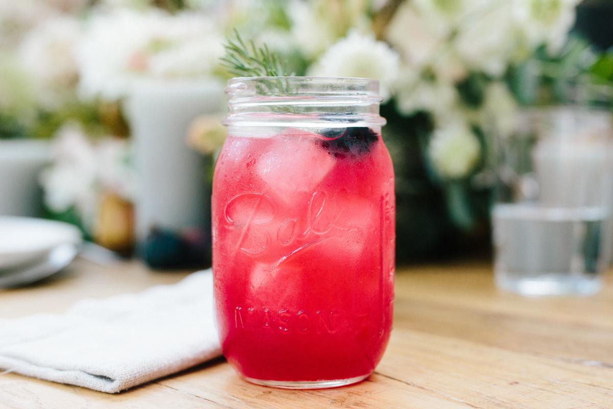 Sqirl's Blackberry-Lemon Vodka Cocktail