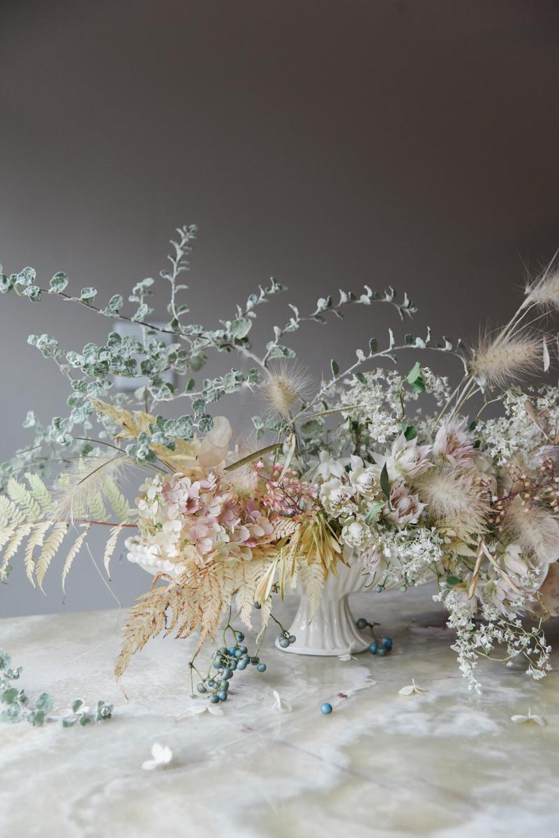 A Muted Fall Arrangement by Sarah Winward