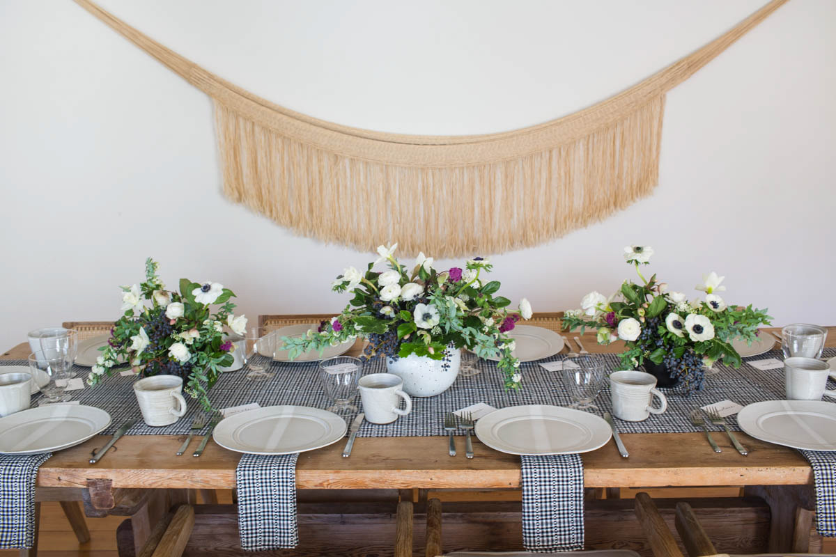 Setting the Table for a Valentine's Day Lunch
