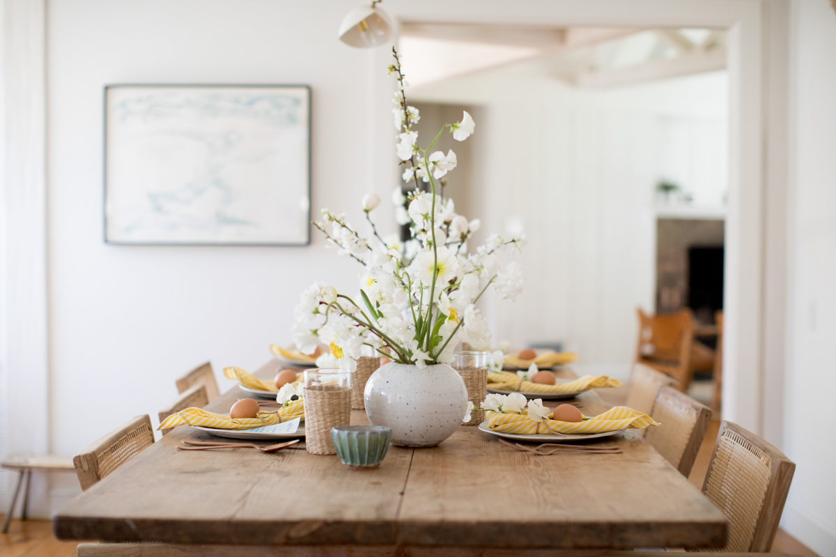 Setting the Table for an Easter Lunch — Plus, a Shibori Egg DIY 3