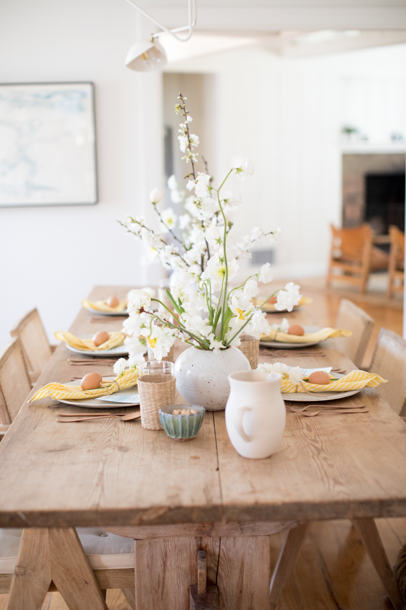 Setting the Table for an Easter Lunch — Plus, a Shibori Egg DIY
