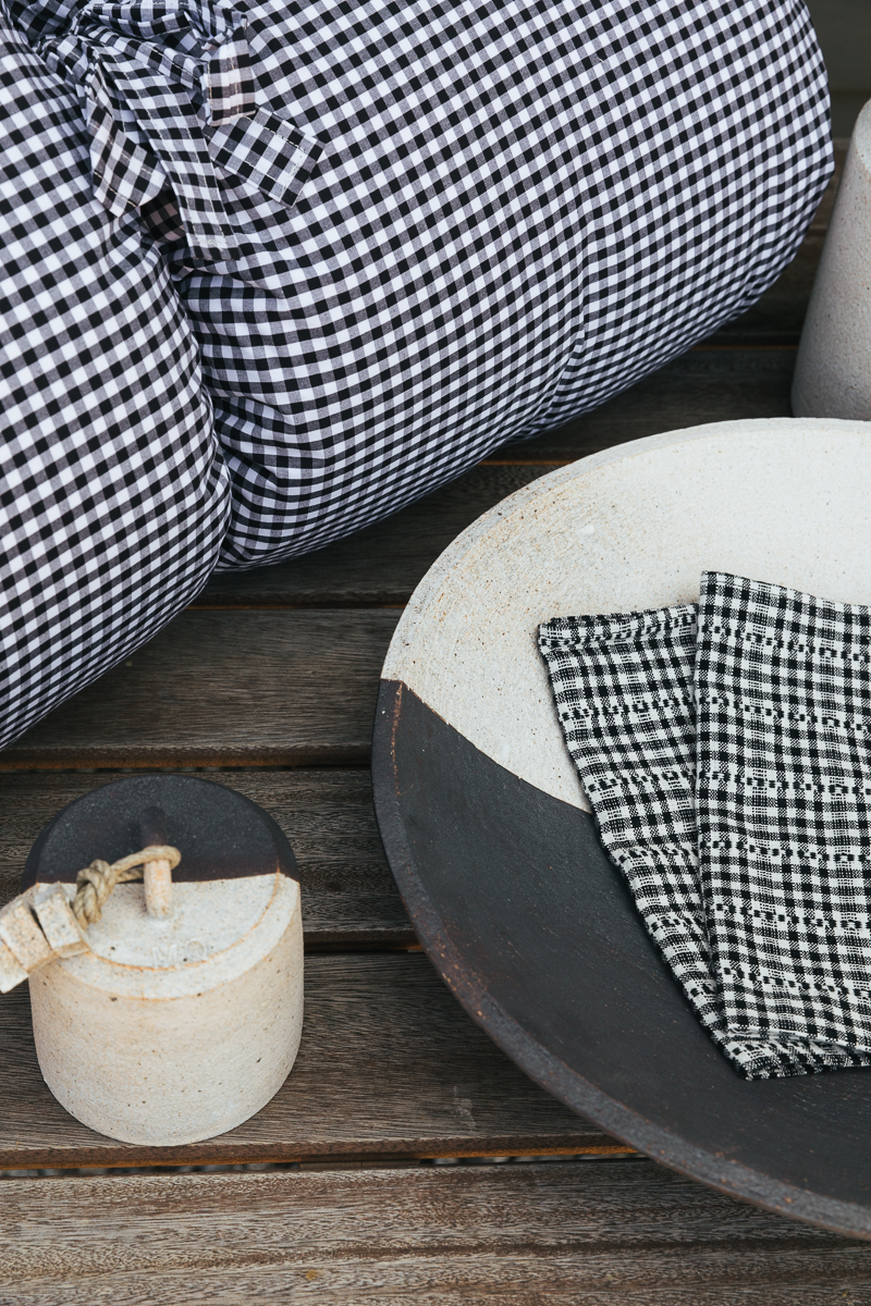 An Earthy Take on Black and White Home Décor