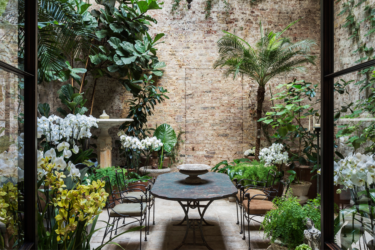 London Based Interior Designer Rose Uniackeu0027s Indoor Garden