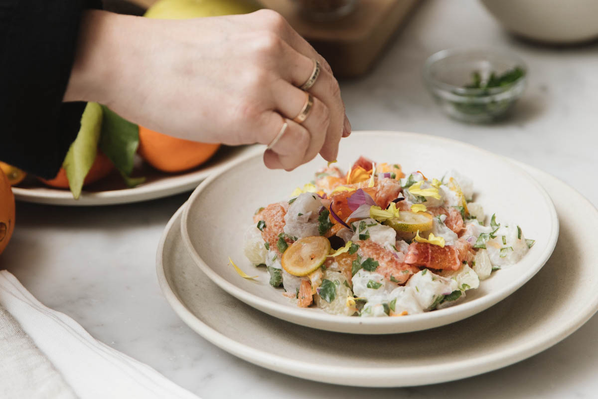 Fluke Ceviche with Alison Cayne of The Haven's Kitchen 0