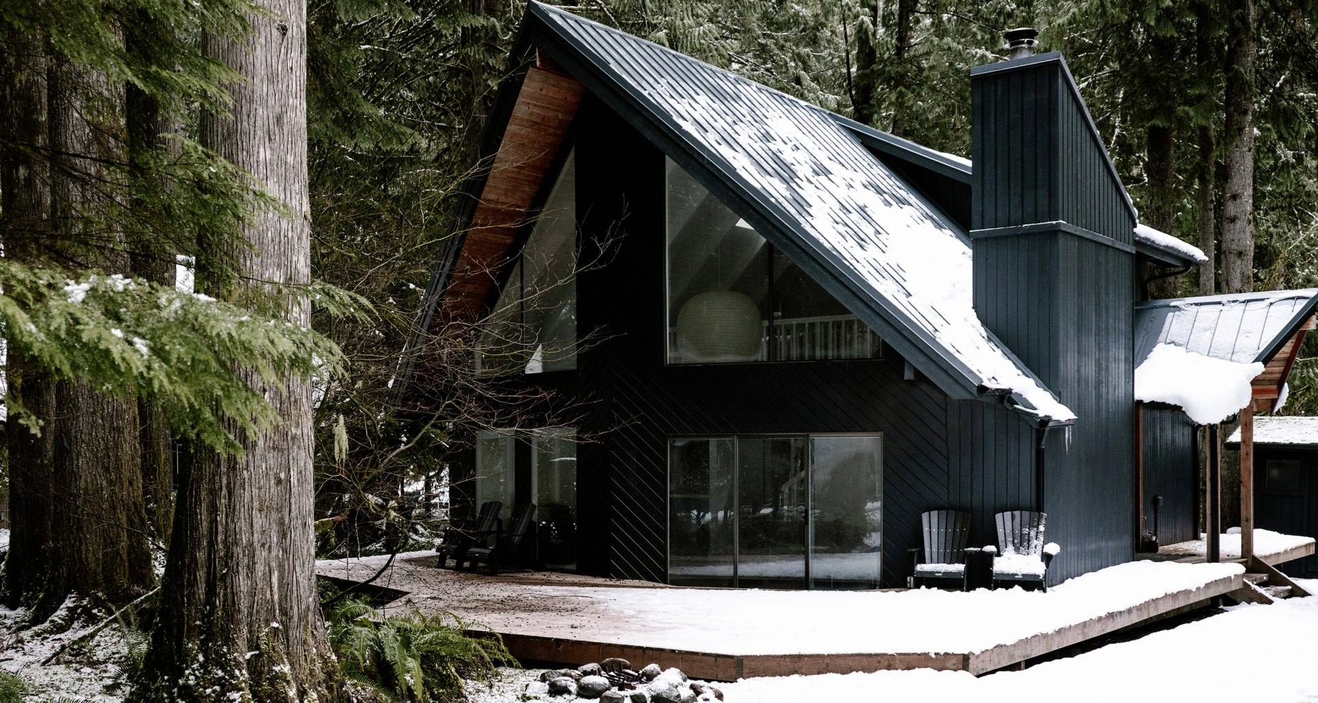 This Cozy A-Frame Cabin is a Postcard of the Pacific Northwest