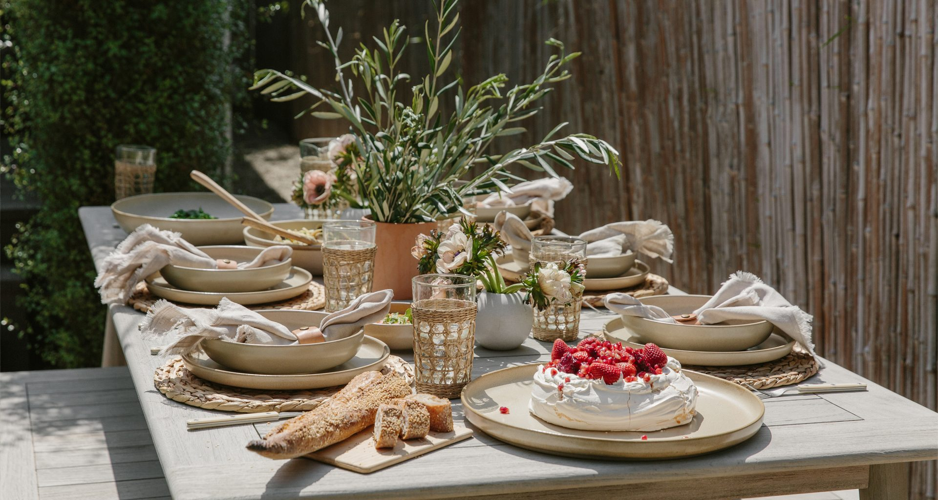 Serve This Spring Menu at Your Next Outdoor Dinner Party